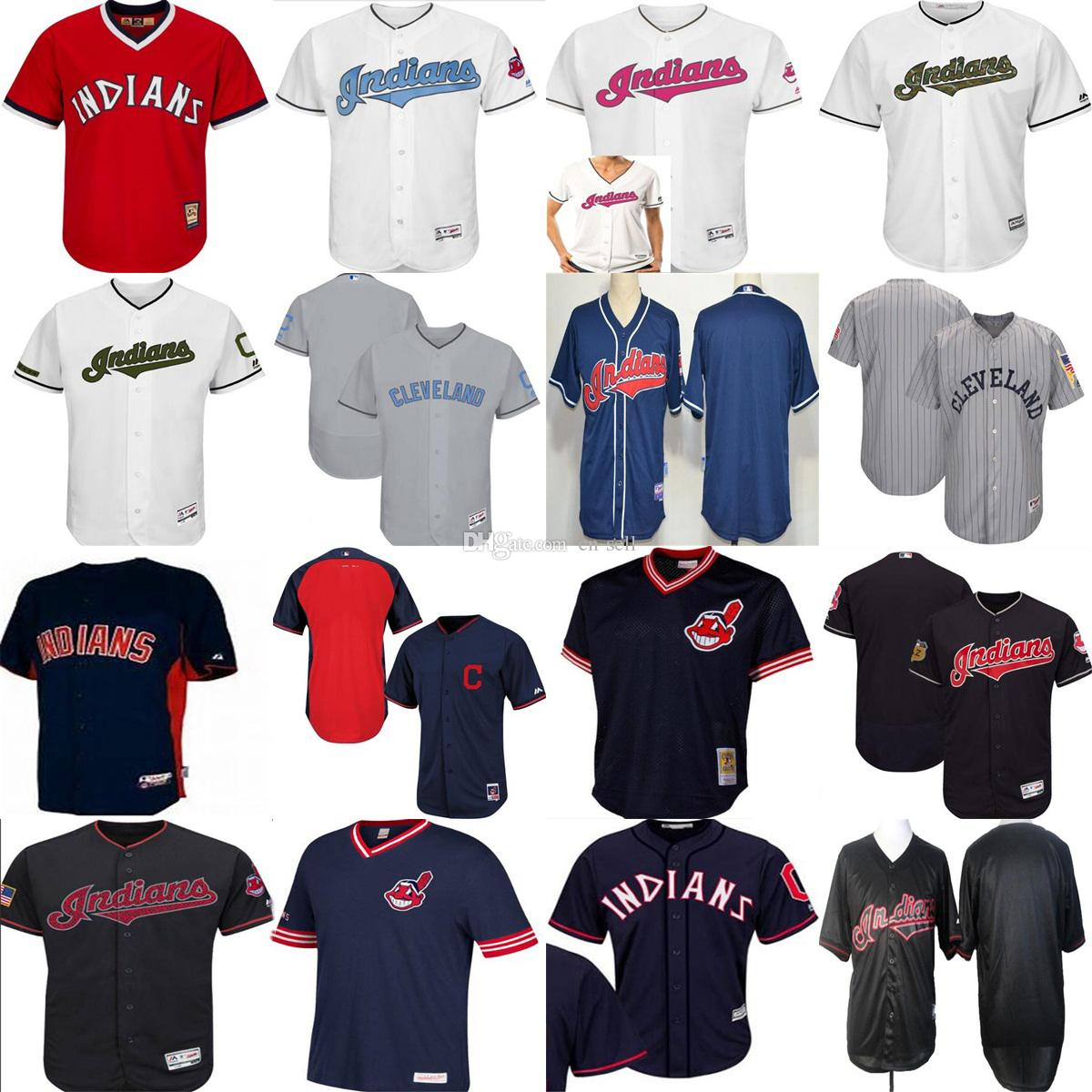 7f31d6e7d ... White 2017 Cleveland Indians 2017 Mens Lady Kids Customized 1986  Vintage Father Mother Memorial Fashion StarsStripes Cool Customized Jerseys  ...