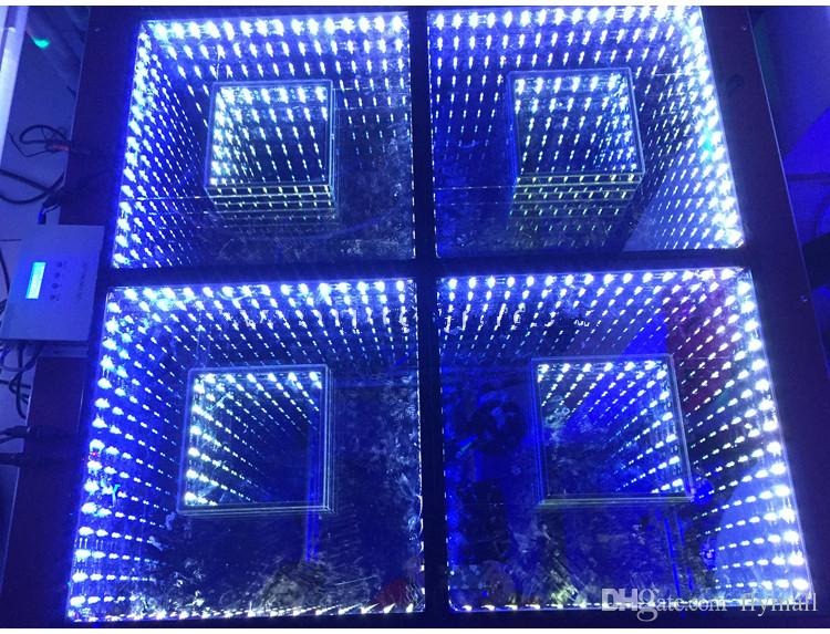 2018 50 50cm Mirror 3d Led Dance Floor Light With Sd