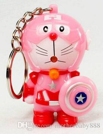 gros enfants enfants jouets porte-clés lampe de poche LED lumière trousseau son trousseau de clés pour le cadeau de promotion sac 051924