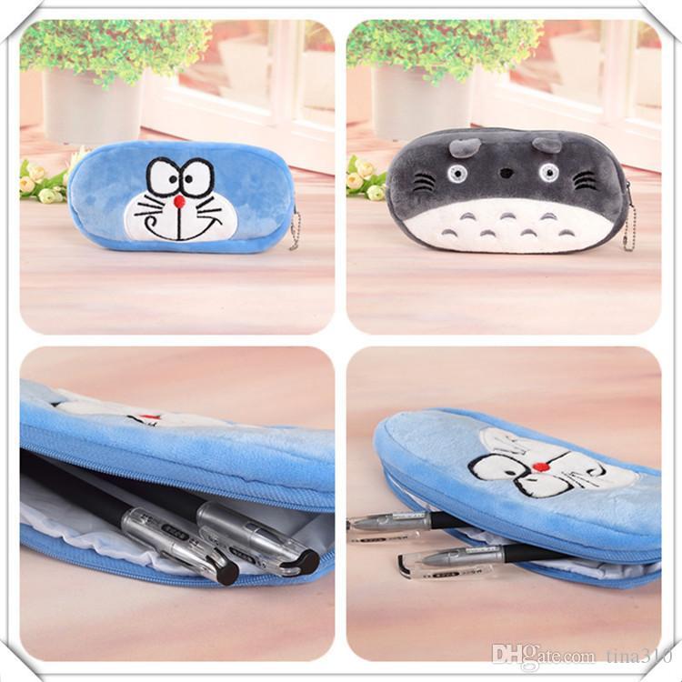 Nuovo simpatico cartone animato Kawaii Pencil Case peluche Grande sacchetto di matita bambini Materiale scolastico Cancelleria IB426
