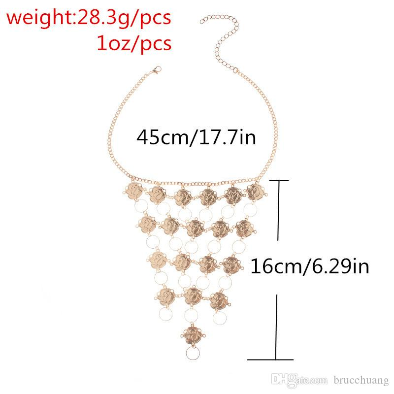 2017 Special Design Women Brassiere Body Necklace Chain Summer Party Fashion Sexy Choker Necklace Statement Jewelry