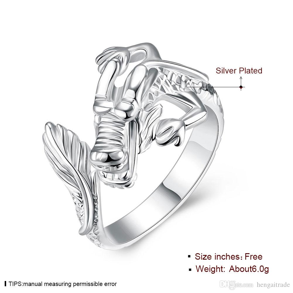 Wholesale 925 Sterling Silver Plated Fashion Tap ring - Opening Jewelry LKNSPCR054