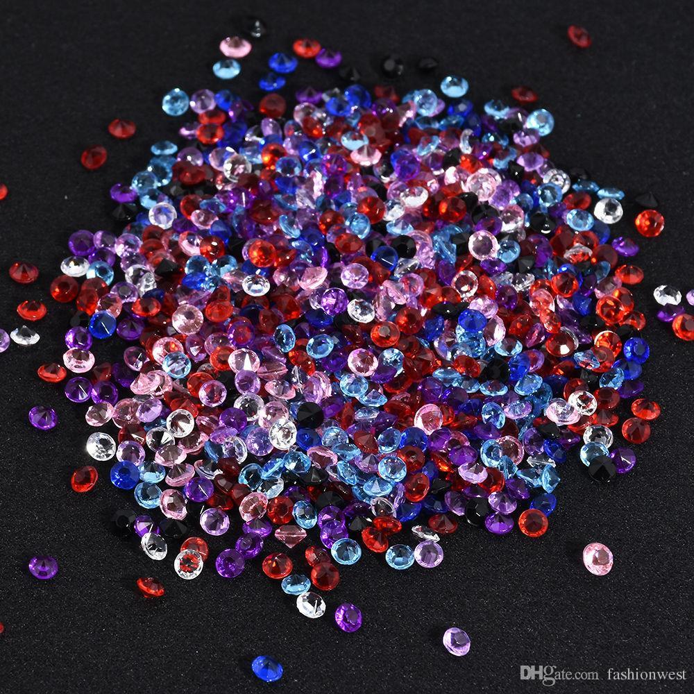 décorations de fête Diamant Strand Acrylique Cristal Perle Rideau De Mariage DIY Parti Décor