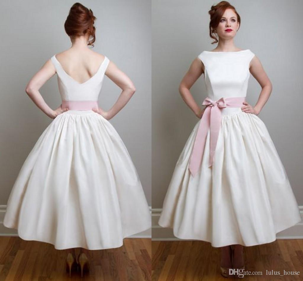 Discount Vintage Inspired Satin Wedding Dresses Robe De Mariage ...