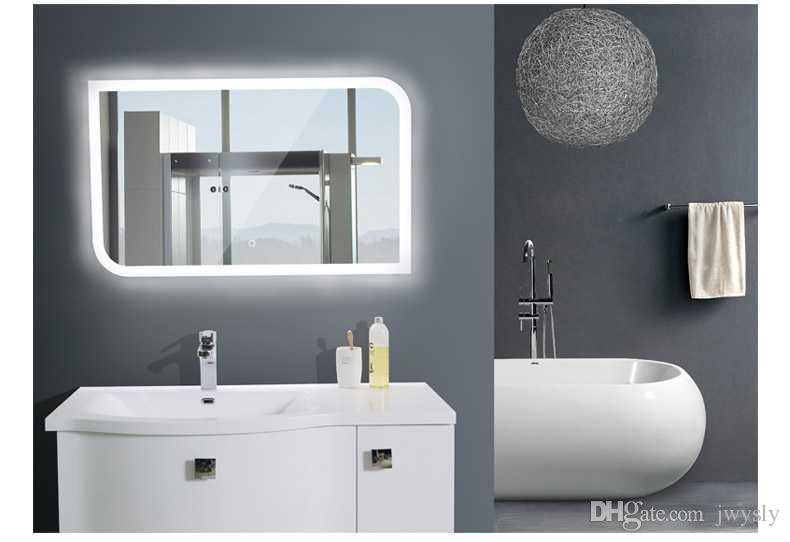 Luxury European Style Bathroom Mirror With Light Led Square Toilet Frameless Wall Antifog Wood Mirrors From Jwysly