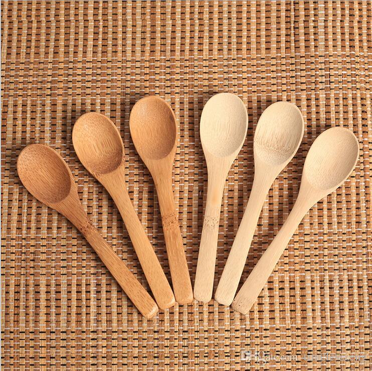 Cuchara de mermelada de madera Bebé Cuchara de miel Cuchara de café Nueva cocina delicada con condimento pequeño 12.8 * 3 cm