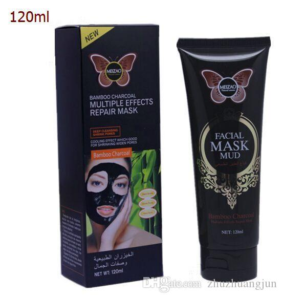 Top quality 120ML Bamboo charcoal multi-effect repair mask mud Skin care authentic cosmetics wholesale DHL