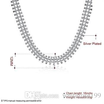 Wholesale - Retail lowest price Christmas gift, new 925 silver fashion Necklace yN166