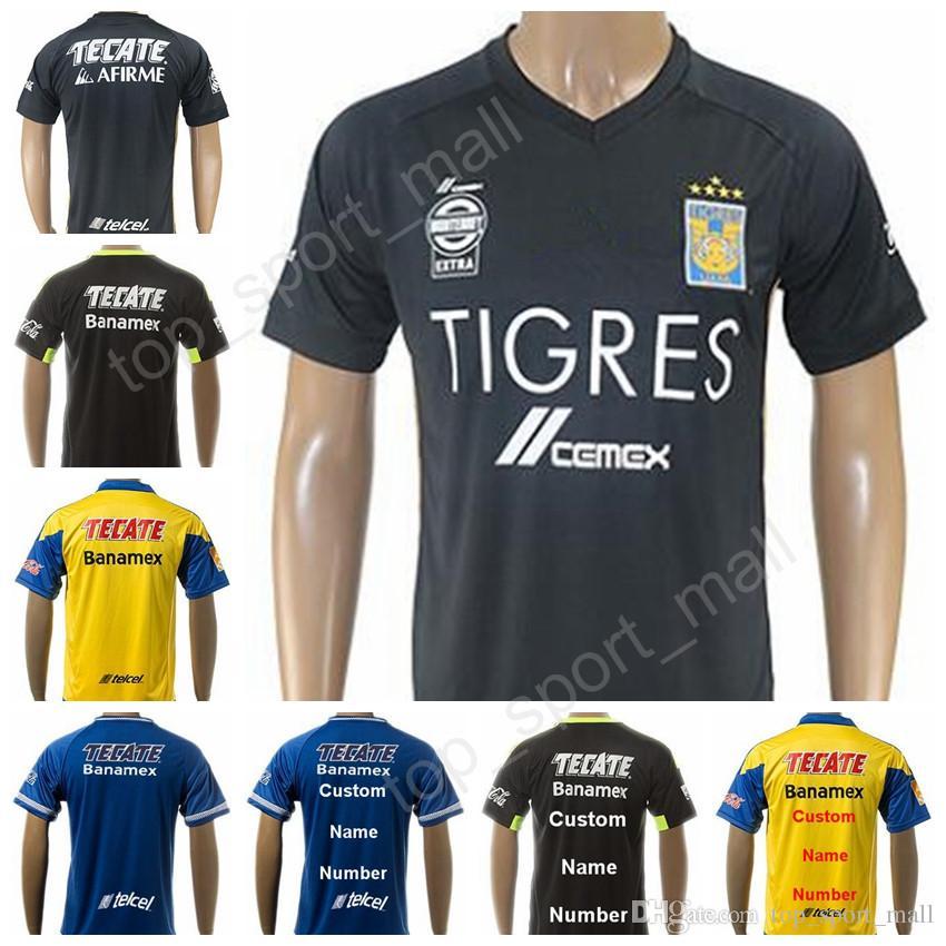 104ce1a43417c 2019 2017 2018 Tigres UANL Soccer Jerseys Mexico Nuevo Leon Football Shirt  10 GIGNAC 11 DAMIAN 4 AYALA 6 NILO 8 ZELARAYAN VARGAS SOSA From  Top sport mall