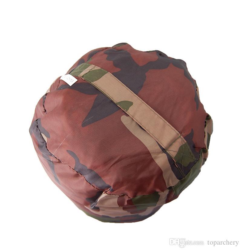 Waterproof Camouflage Camping Sleeping Bag 3 Season Cotton Filling Envelope Style Army Hooded Military Sleeping Bags Fishing Equipment