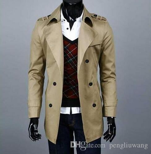 b5bacdfef8308 2019 High Quality Epaulet Autumn Slim Sexy Trench Coat Men British Fashion  Double Breasted Mens Trench Coat Overcoat Big Size 8XL 9XL From  Pengliuwang