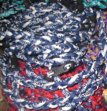 New Brand Titanium Braid 3 Ropes Tornado Necklaces for Sport Football Basketball Healthy Fashion Body Jewelry