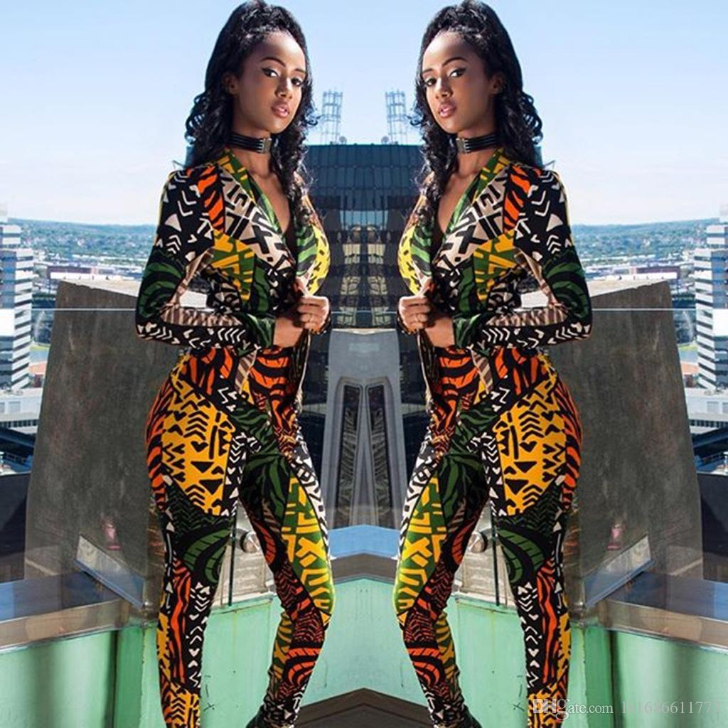Mode Digitaldruck frauen Zweiteilige Sätze Lässig Frauen Anzüge 2017 frühling und herbst Kleidung Sets Frauen Zweiteilige Hosen