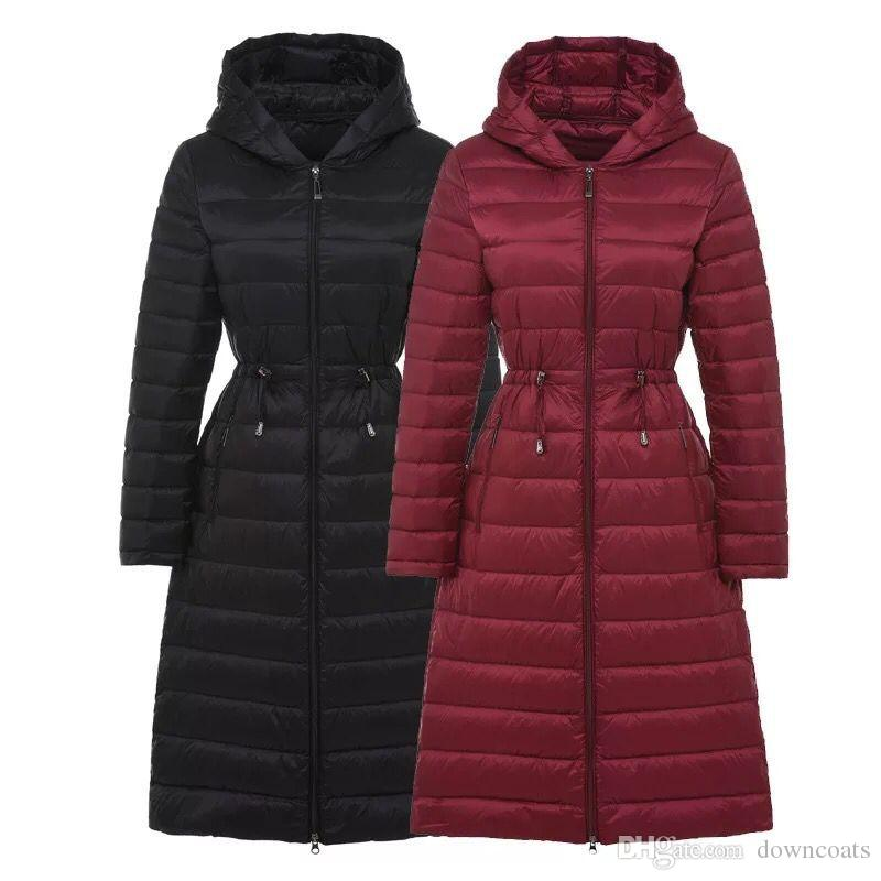 2017 Autumn Womens Long Down Jackets Brands Ultra Thin Winter Jacket Women  Hooded Doudoune Femme Female Parkas Chaqueta Mujer Stock Canada 2019 From  ... 4fc700b288