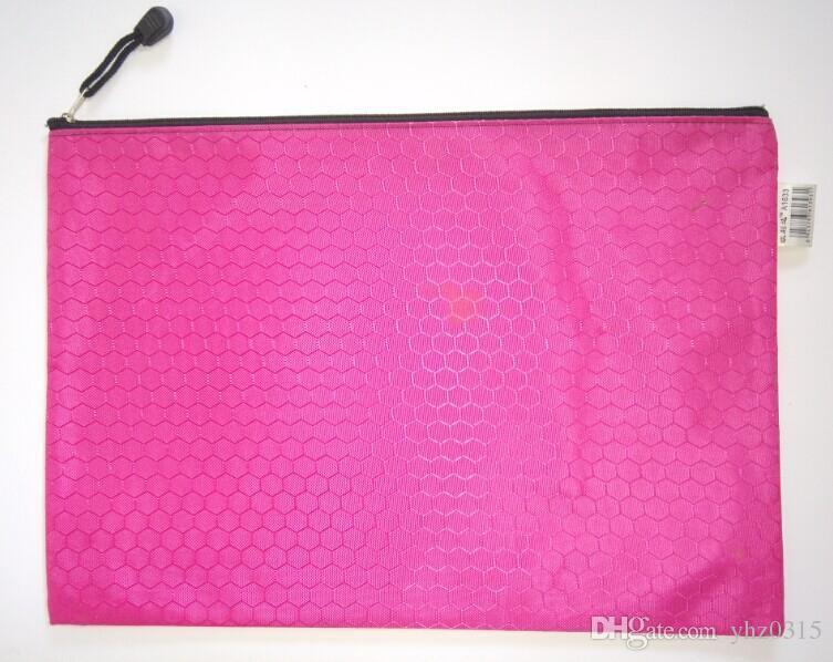 Busta di dati di linee di calcio A4 più creativa ricevere la borsa con cerniera in tessuto Oxford 34 * 24 cm