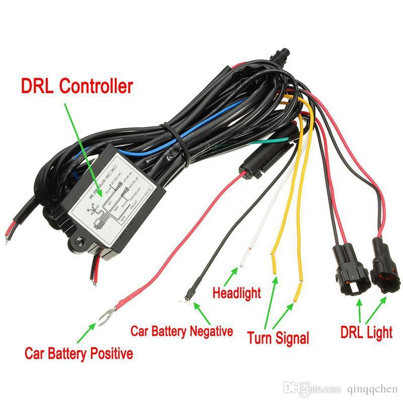 LED DRL Daytime Running Luz Relé Harness Controlador On Off Dimmer Carro DRL Luzes de Circulação Diurna DC 12 V 30 W Função de Direção Síncrona