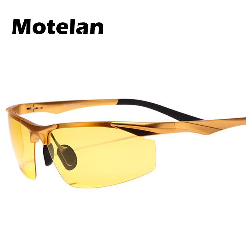 Compre Los Hombres Polarizados De Aluminio De Magnesio Controladores De  Coches Gafas De Visión Nocturna Antideslumbrante Polarizador Gafas De Sol  Gafas De ... 49194b720d19