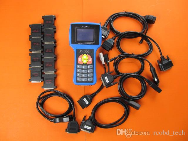 T300 Anahtar Programcı Aracı OBD2 Oto Transponder İngilizce İspanyolca İsteğe Bağlı T-Kod Maker Arabalar için Tam Set