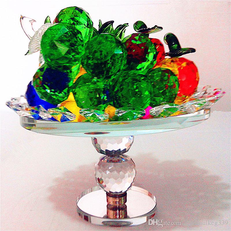 Beautiful Popular Crystal apple tree Decoration crafts gifts fruit turtle fruit plate cornucopia creative home decorations