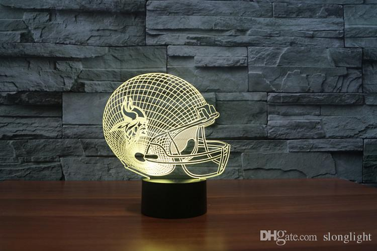 Freier Teamsturzhelm des amerikanischen Fußballs des Verschiffens 3D führte helles Möbelmodell