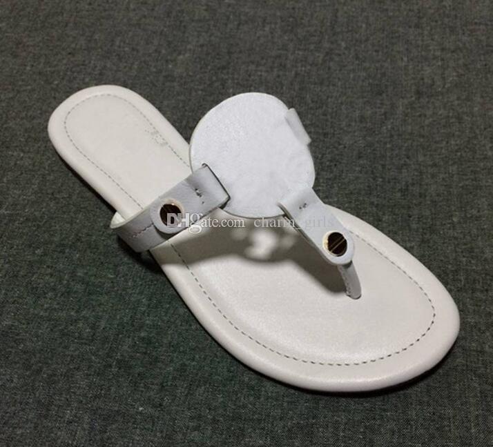 e5364f7d983 Acheter Mode Femmes Chaussures Plate Forme Tongs Plage En Peau De Mouton  Plats En Cuir Verni Style D été Chaussure Tongs Plates Occasionnels Grande  Taille ...