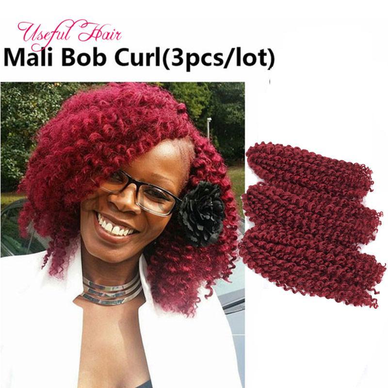 whoelsale al dettaglio 4 lotto una testa Malibob estensione dei capelli sintetici 8