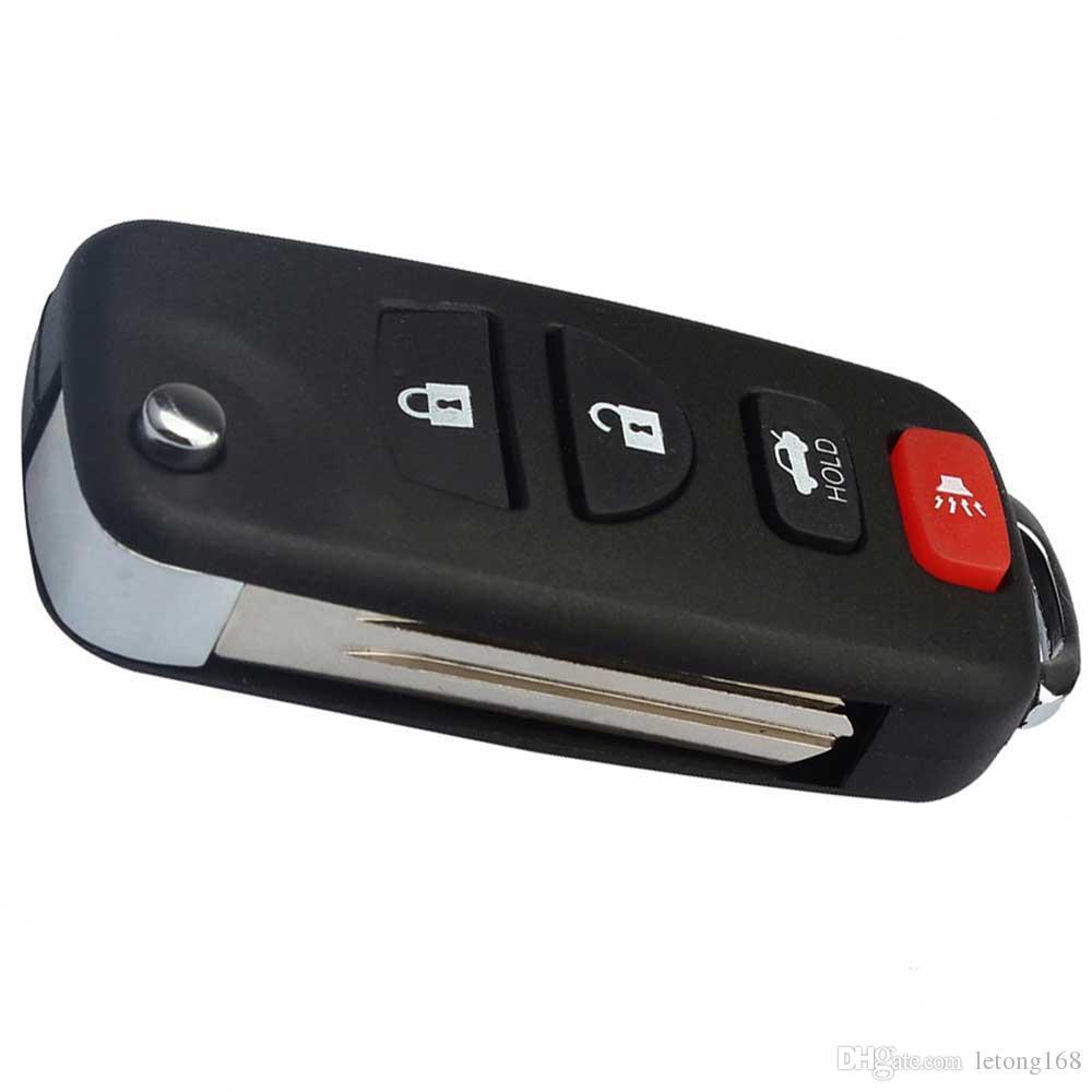 Guaranteed 100% Folding Flip Remote Fob Key Shell Case For INFINITI G35 I35 350Z Nissan Sentra Altima Maxima 2002 to 2006