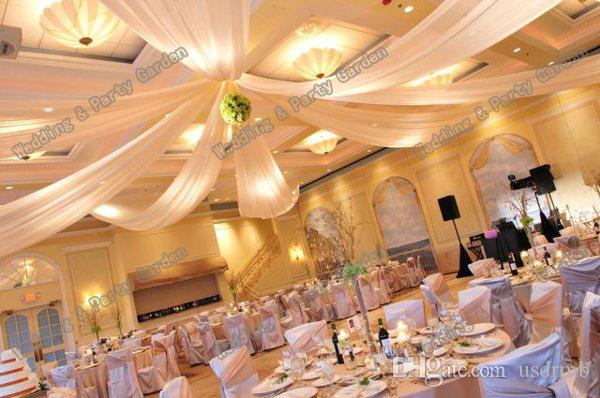 Wedding Roof Drape Canopy Drapery For Decoration Fabric 8m Length X 045m Wide Ceiling Online With