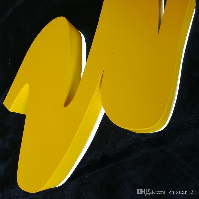 Factory Outlet im freien verwendet Werbung zurück beleuchtete Metall LED Zeichen Buchstaben, Halo beleuchtete Edelstahl Shop Namen Schilder