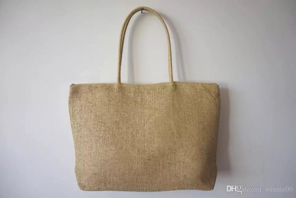 Fashion Rope Handle Beach Bag Wholesales/Plain Pattern Beach Tote ...