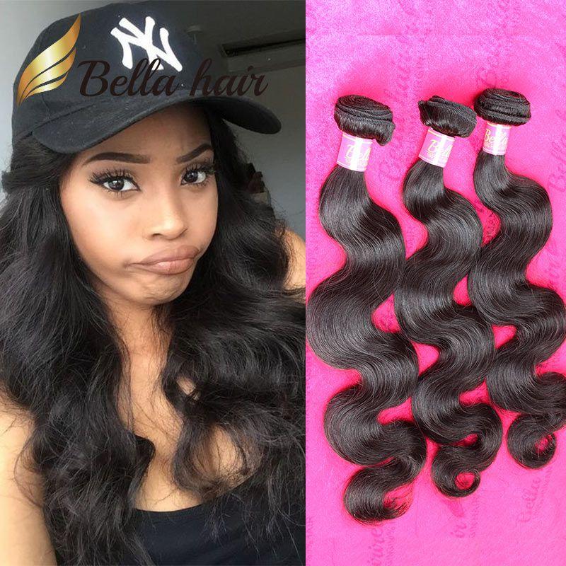 Bella Hair 11a Brazilian Virgin Hair Bundle Double Drown Peruvian