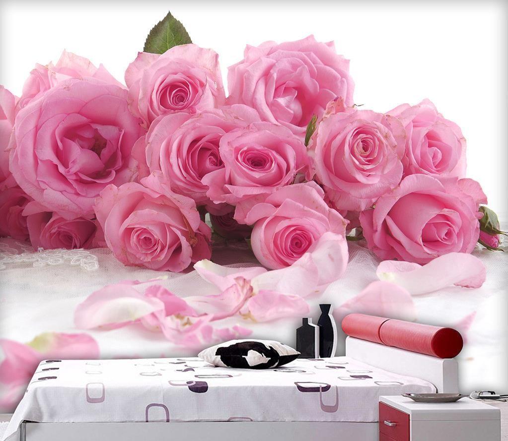 Luxury European Modern Pink Aesthetic Rose Bedroom