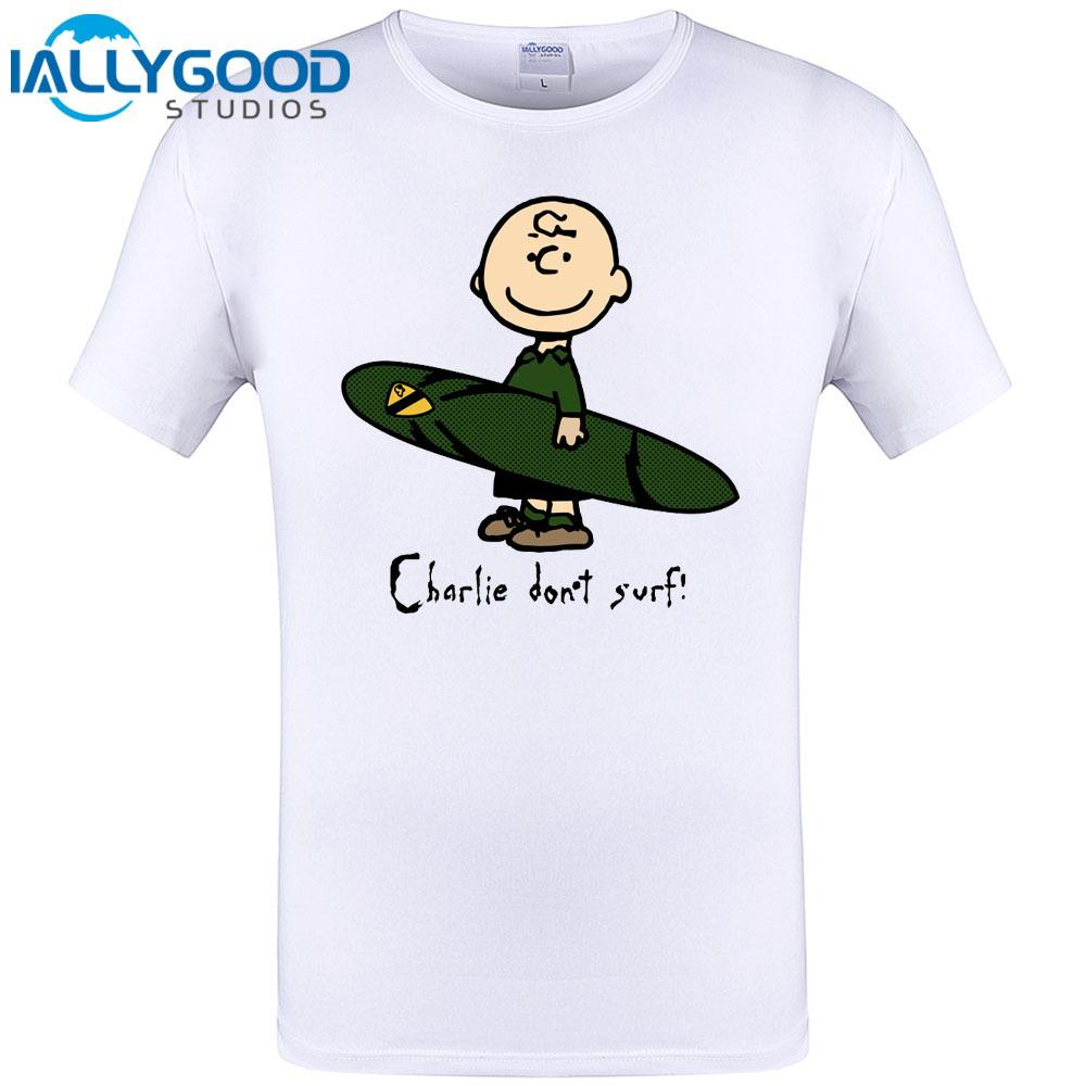 856560a79c4f Charlie Brown Dont Surfer Design Mens T Shirt Cool Short Sleeve Tops Summer  New Brand Clothing Hipster Funny Tee Shirt Plus Size Patriotic T Shirts  Funny ...