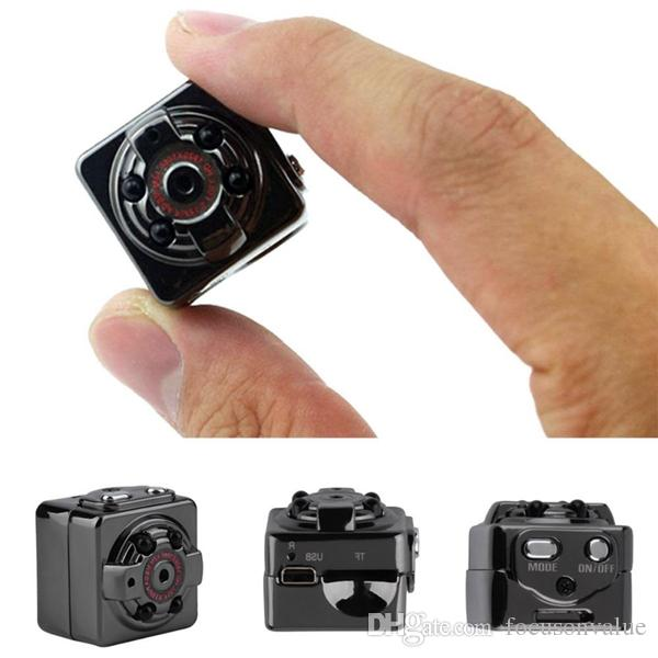 Full HD 1080P night vision Wide Angle Mini DV SQ8 Portable Video Camera Sports DV Car DVR with bracket mini camcorder 100pcs