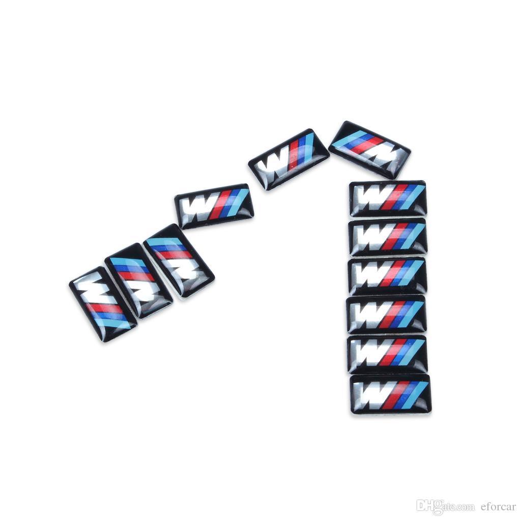 Emblem-Aufkleber-Abziehbild-Logo des Auto-Fahrzeug-Rad-Abzeichen-M Sport-3D für bmw M Reihe M1 M3 M5 M6 X1 X3 X5 X6 E34 E36 E6 Auto-Styling-Aufkleber