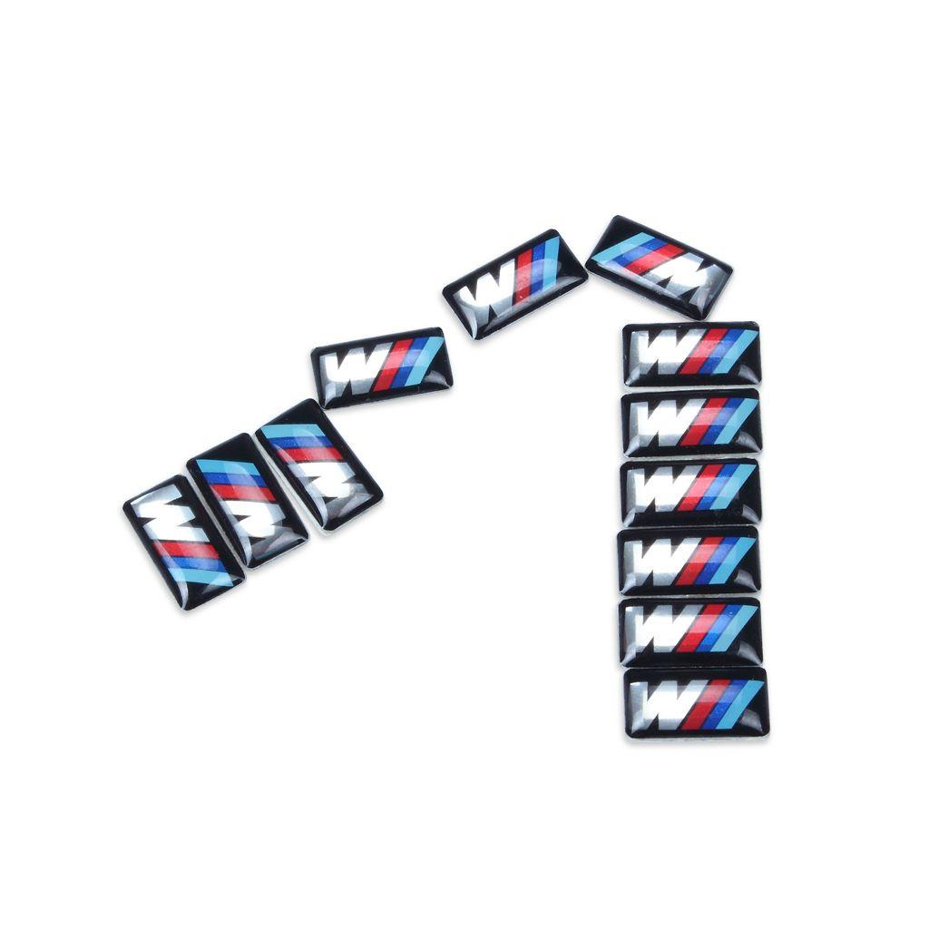 Veículo de carro Emblema Da Roda M Esporte 3D Emblema adesivo decalques logotipo para bmw M série M1 M3 M5 M3 X1 X3 X5 X6 E34 E36 E6 Car Styling Adesivos