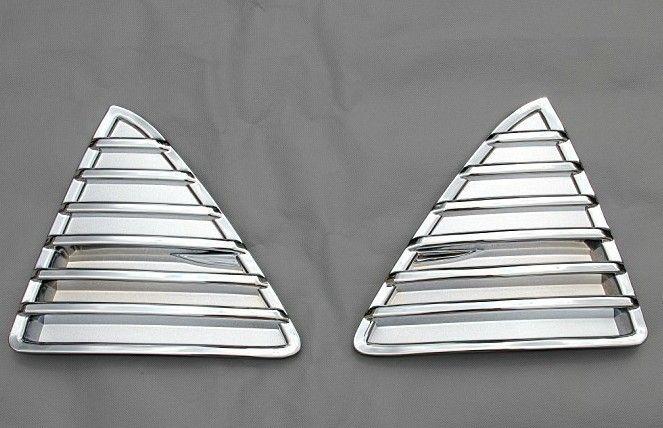 ABS Material Cromo Grades de Corrida Intake Grille Capa Para Ford Focus 3 2012-2015 3 pçs / set