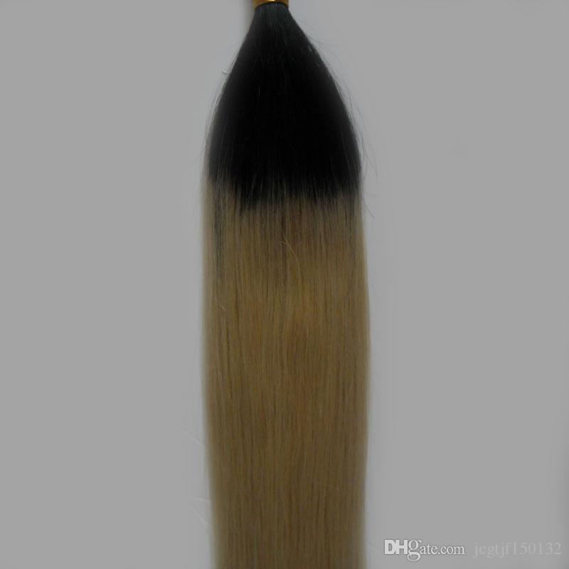 8a grade human hair for braiding 100g human hair for braiding bulk no attachment T1B/613 ombre human hair