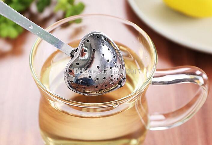 Infuso di tè caldo del tè del infusore del tè di erbe a forma di cuore di infusione del tè di erbe del tè del tè di 2017