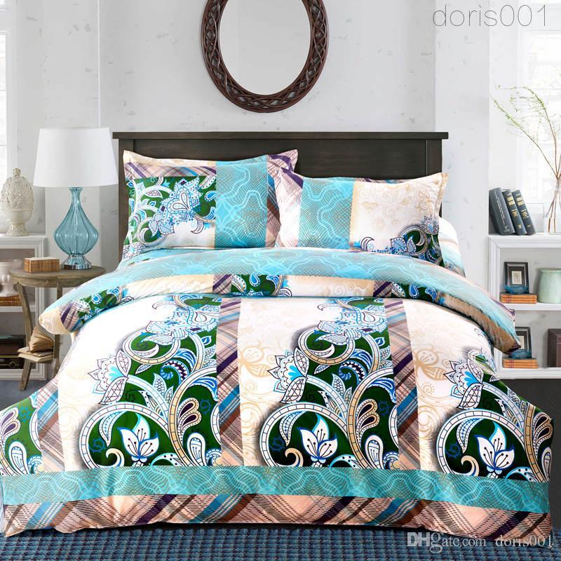 الشحن مجانا - فاخر 3D النفط اللوحة رشاقته الفراش القطن مجموعة المعزي / حاف يغطي السرير أغطية ورقة المنزل