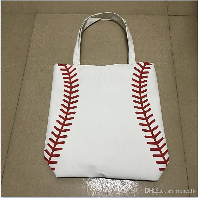 kleine tasche Baseball Tote Taschen Sporttaschen Lässige Tote Softball Tasche Fußball Fußball Basketball Tasche Baumwolle Canvas Material