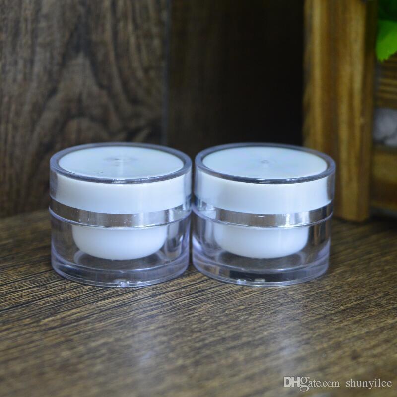 Contenitori in vasetto di plastica trucco in plastica 5G, contenitore cosmetico vuoto, vaschette nail art, vasetto crema MINI F20171224