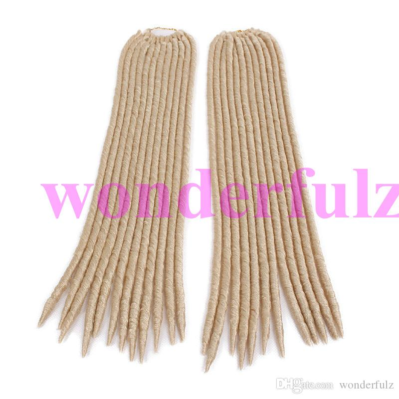 Dread Lock Good Quality Synthetic Braiding Hair Synthetic Faux Locs