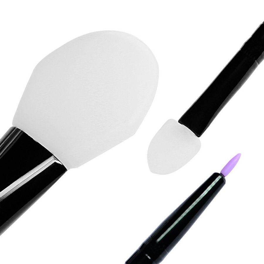 Lidschatten-applikator 1 Pc Professional Silikon Gesichts Gesicht Maske Pinsel Schlamm Mischen Hautpflege Schönheit Make-up Pinsel Foundation Werkzeuge Brochas Maquillaje