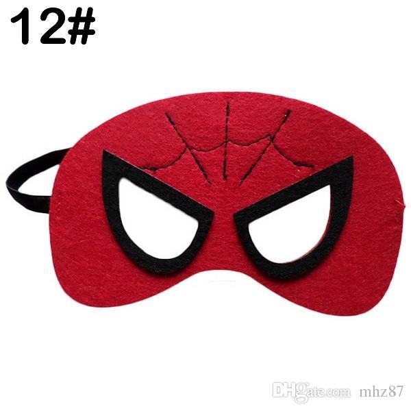 Cartoon Children Kids Masks Party Decor Halloween Decoration Christmas Party Supplies Masquerade Half Face Masks LH1278