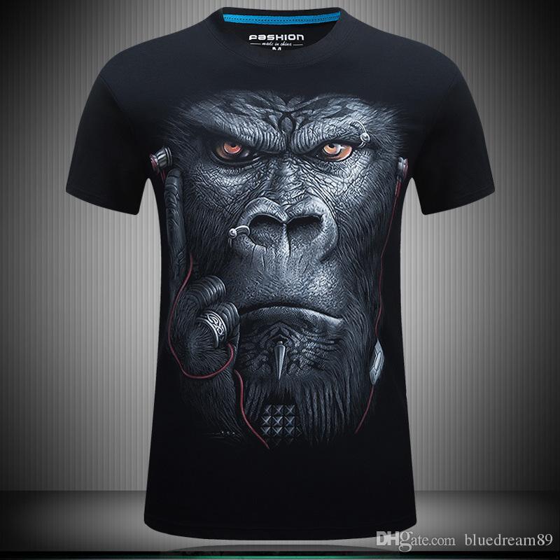 3d Designer T Shirt Print Men Personality Funny Orangutan T Shirt ...
