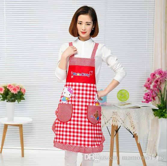Korean Lovely Cute Waterproof Apron Kitchen Accessories House Cleaning House Keeping Anti Dust pinafore Pastry Tools LB 413