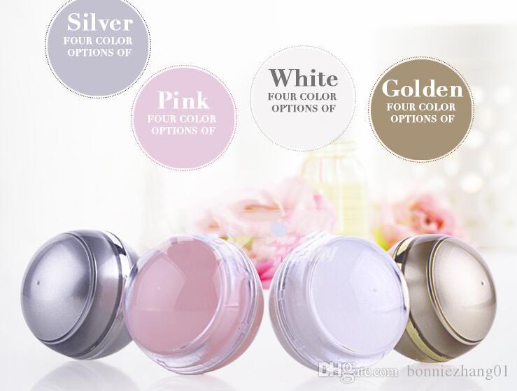 Refillable Plastic Blank Cosmetic Ball Container 5g Makeup Lip Balm Jar Eye Gloss Face Cream Case