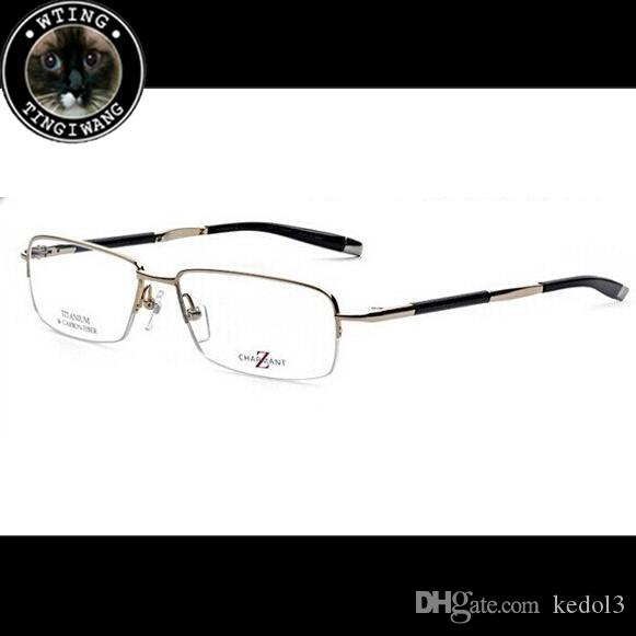 899c47a6bdfa8 Compre Charmant Marca De Design De Qualidade Superior Homem Ler Óculos  Homens De Metal Moda Óptica Óculos De Leitura Quadro Miopia Personalidade  Computador ...