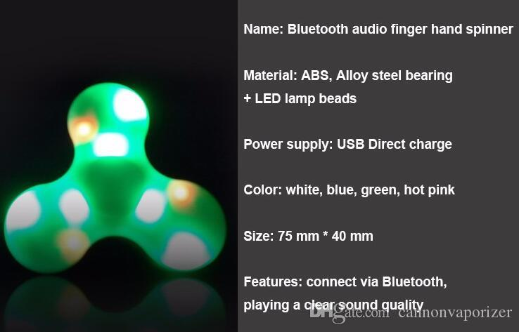 Competitive Price Bluetooth Speaker Fidget Spinner Toy Finger Gyro Usb  Rechargeable Led Fidget Hand Spinner Mobile Phone Mp3 Player Princess  Finger Puppet ...